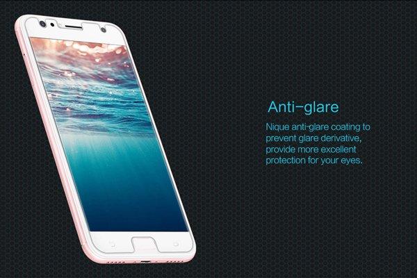 【ネコポス送料無料】Zenfone4 Selfie (ZD553KL) 強化ガラスフィルム ナノコーティング 硬度9H [4]