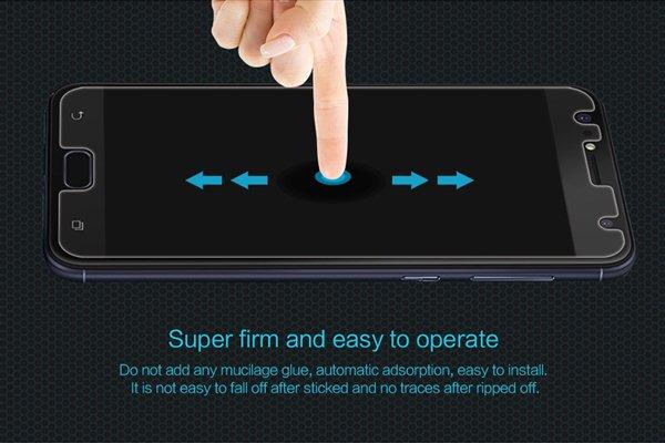 【ネコポス送料無料】Zenfone4 Selfie (ZD553KL) 強化ガラスフィルム ナノコーティング 硬度9H [5]
