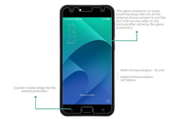 【ネコポス送料無料】Zenfone4 Selfie (ZD553KL) 強化ガラスフィルム ナノコーティング 硬度9H [7]