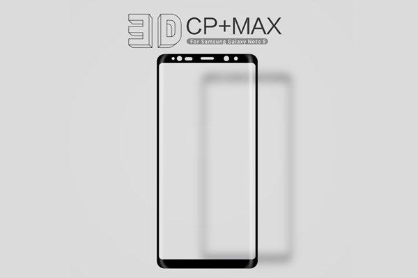 【ネコポス送料無料】Galaxy Note8 3Dフルカバー 強化ガラスフィルム ブラック [2]