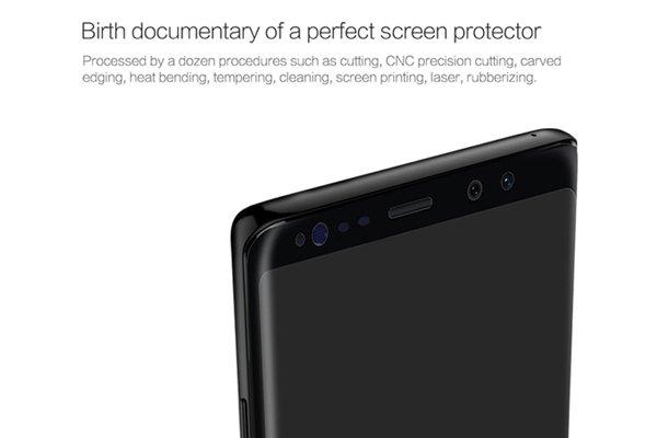 【ネコポス送料無料】Galaxy Note8 3Dフルカバー 強化ガラスフィルム ブラック [3]