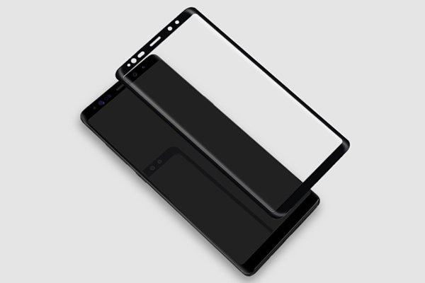 【ネコポス送料無料】Galaxy Note8 3Dフルカバー 強化ガラスフィルム ブラック [5]