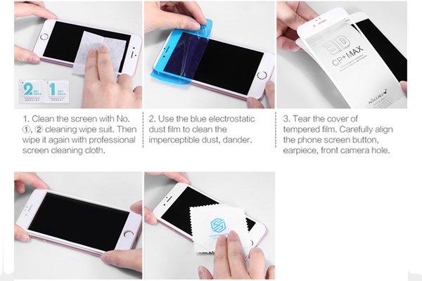 【ネコポス送料無料】Galaxy Note8 3Dフルカバー 強化ガラスフィルム ブラック [7]