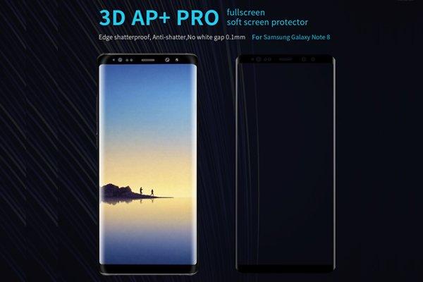 【ネコポス送料無料】Galaxy Note8 3Dフルカバーソフトフィルム ブラック [1]