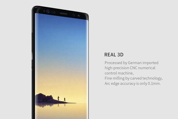 【ネコポス送料無料】Galaxy Note8 3Dフルカバーソフトフィルム ブラック [2]