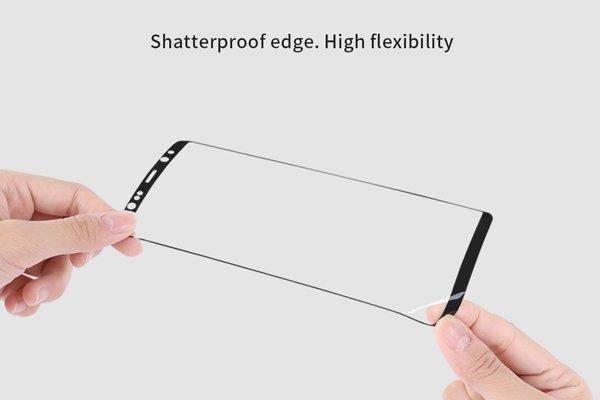 【ネコポス送料無料】Galaxy Note8 3Dフルカバーソフトフィルム ブラック [3]