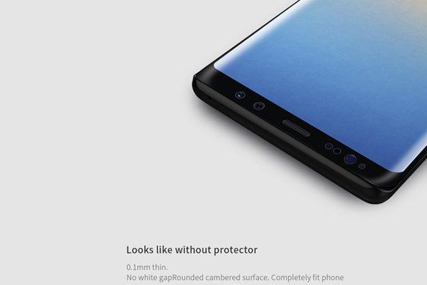 【ネコポス送料無料】Galaxy Note8 3Dフルカバーソフトフィルム ブラック [4]