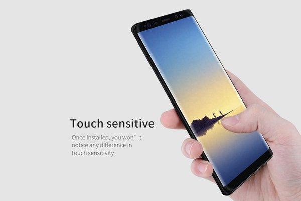 【ネコポス送料無料】Galaxy Note8 3Dフルカバーソフトフィルム ブラック [5]