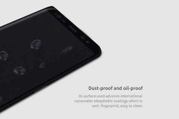 【ネコポス送料無料】Galaxy Note8 3Dフルカバーソフトフィルム ブラック [6]
