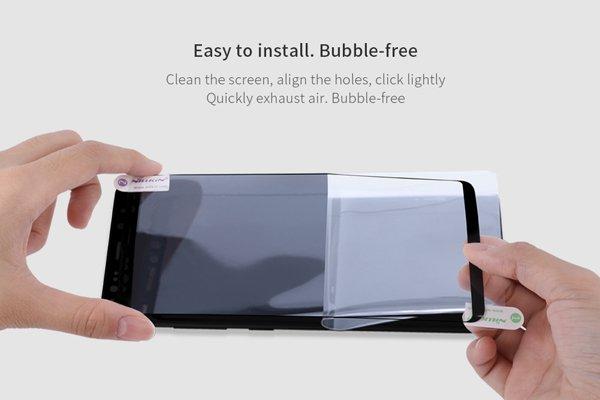 【ネコポス送料無料】Galaxy Note8 3Dフルカバーソフトフィルム ブラック [7]
