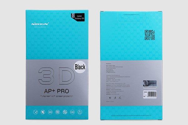 【ネコポス送料無料】Galaxy Note8 3Dフルカバーソフトフィルム ブラック [8]