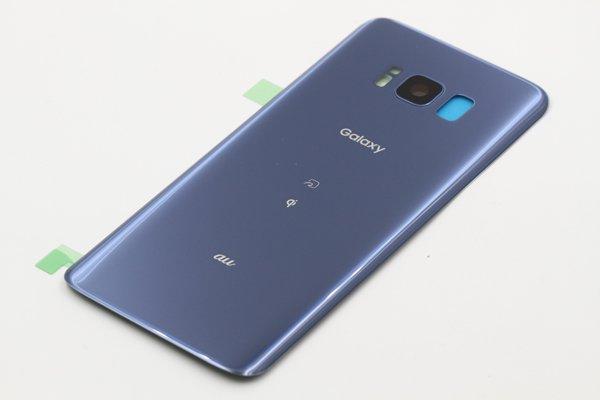 【ネコポス送料無料】Galaxy S8(SCV36)バックカバー ブルーコーラル  [5]