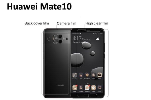 【ネコポス送料無料】Huawei Mate10 液晶保護フィルムセット クリスタルクリアタイプ [1]