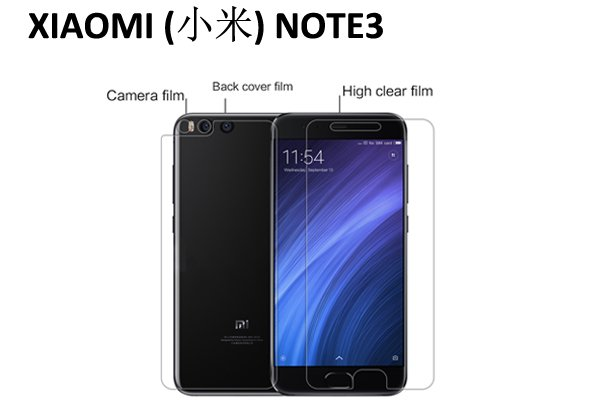 【ネコポス送料無料】XIAOMI(小米) NOTE3 液晶保護フィルムセット クリスタルクリアタイプ [1]