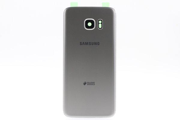 【ネコポス送料無料】Galaxy S7 Edge Duos (SM-G935FD) 背面カバー シルバー [1]