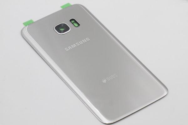 【ネコポス送料無料】Galaxy S7 Edge Duos (SM-G935FD) 背面カバー シルバー [3]