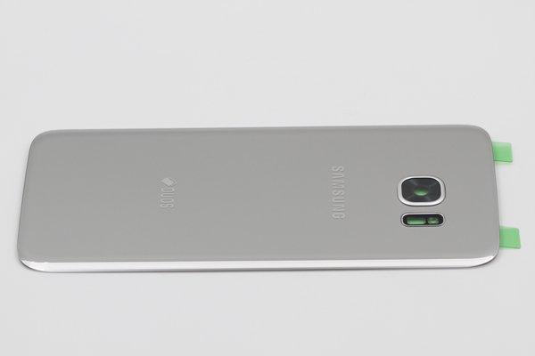 【ネコポス送料無料】Galaxy S7 Edge Duos (SM-G935FD) 背面カバー シルバー [4]