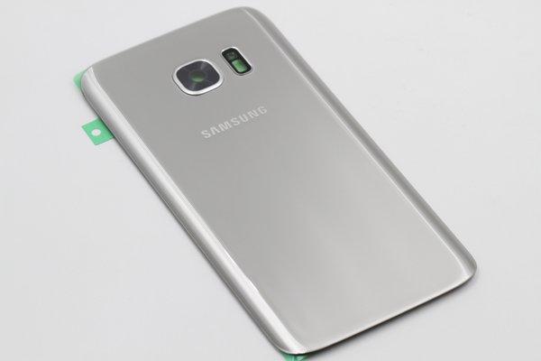 【ネコポス送料無料】Galaxy S7(SM-G930)背面カバー シルバー [3]