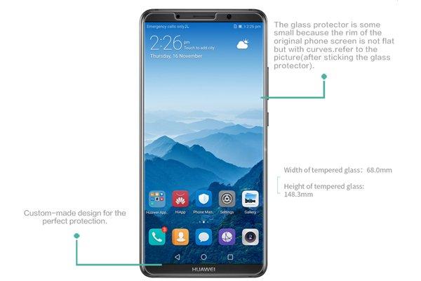 【ネコポス送料無料】Huawei Mate10 Pro 強化ガラスフィルム ナノコーティング 硬度9H  [7]