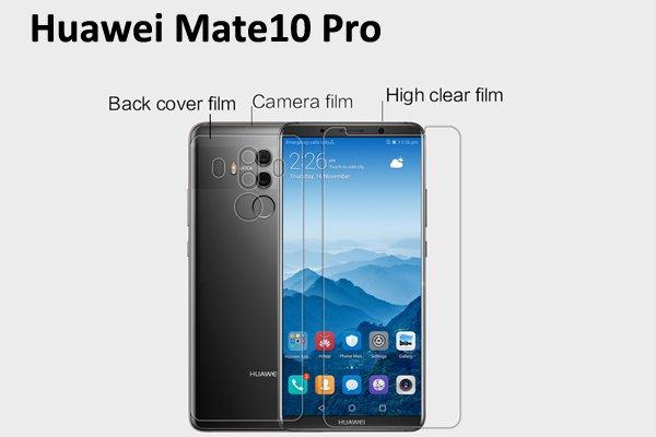 【ネコポス送料無料】Huawei Mate10 Pro 液晶保護フィルムセット クリスタルクリアタイプ [1]