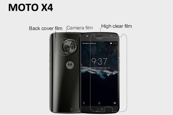 【ネコポス送料無料】MOTOROLA Moto X4 液晶保護フィルムセット クリスタルクリアタイプ