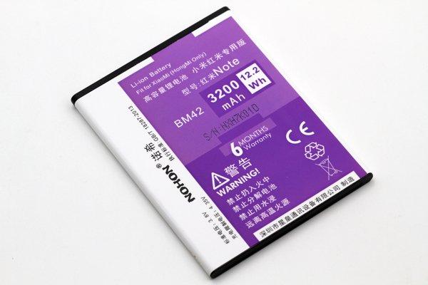 【ネコポス送料無料】紅米 Redmi Note 互換バッテリー BM42 3200mAh [4]