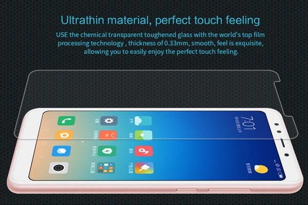 【ネコポス送料無料】XIAOMI(小米)紅米 Redmi 5 Plus 強化ガラスフィルム ナノコーティング 硬度9H [4]