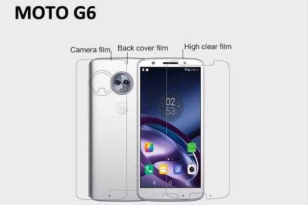 【ネコポス送料無料】Motorola Moto G6 液晶保護フィルムセット クリスタルクリアタイプ  [1]