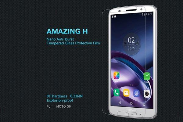 【ネコポス送料無料】Motorola Moto G6 強化ガラスフィルム ナノコーティング 硬度9H [1]