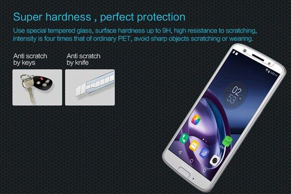【ネコポス送料無料】Motorola Moto G6 強化ガラスフィルム ナノコーティング 硬度9H [2]