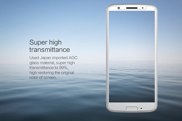 【ネコポス送料無料】Motorola Moto G6 強化ガラスフィルム ナノコーティング 硬度9H [3]