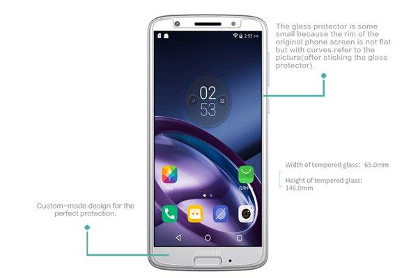 【ネコポス送料無料】Motorola Moto G6 強化ガラスフィルム ナノコーティング 硬度9H [7]