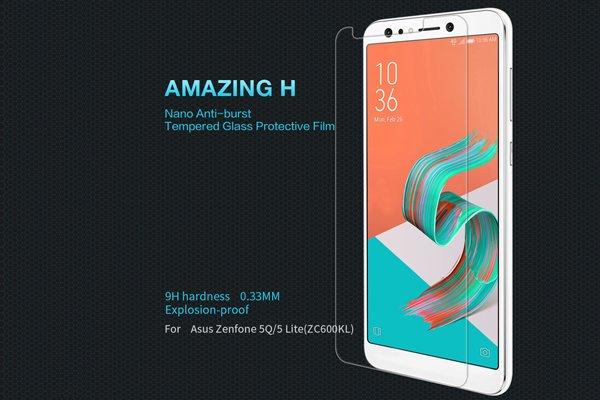 【ネコポス送料無料】Zenfone5 Lite (ZC600KL) 強化ガラスフィルム ナノコーティング 硬度9H [1]