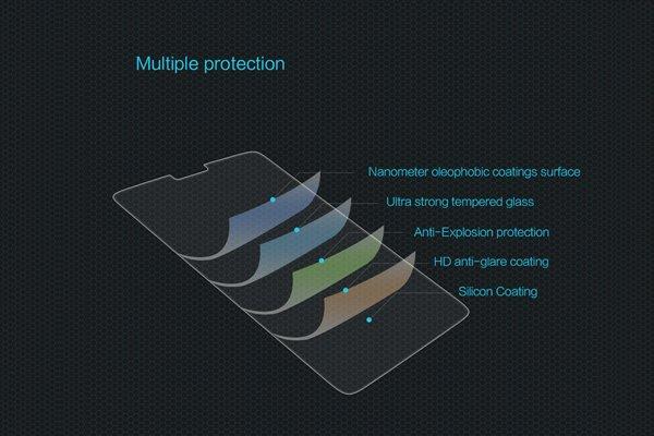 【ネコポス送料無料】Oneplus6 強化ガラスフィルム ナノコーティング 硬度9H [6]