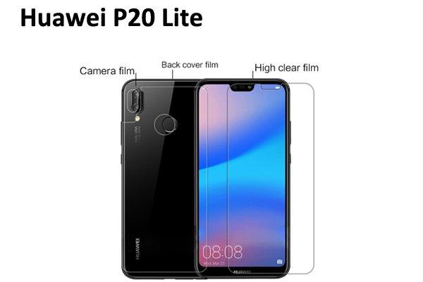 【ネコポス送料無料】Huawei P20 Lite 液晶保護フィルムセット クリスタルクリアタイプ [1]