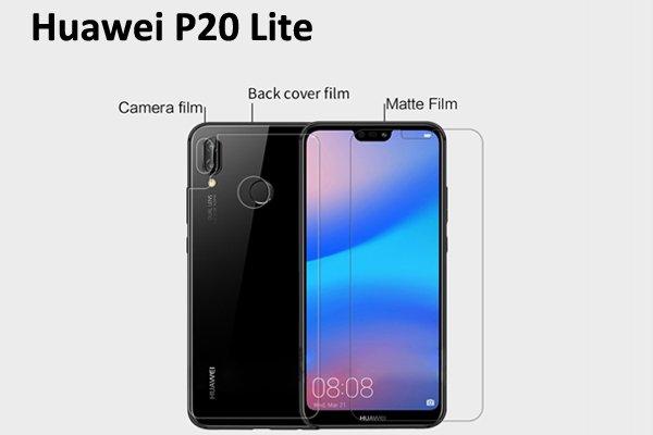 【ネコポス送料無料】Huawei P20 Lite 液晶保護フィルムセット アンチグレアタイプ [1]
