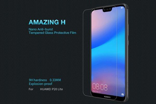 【ネコポス送料無料】Huawei P20 Lite 強化ガラスフィルム ナノコーティング 硬度9H [1]