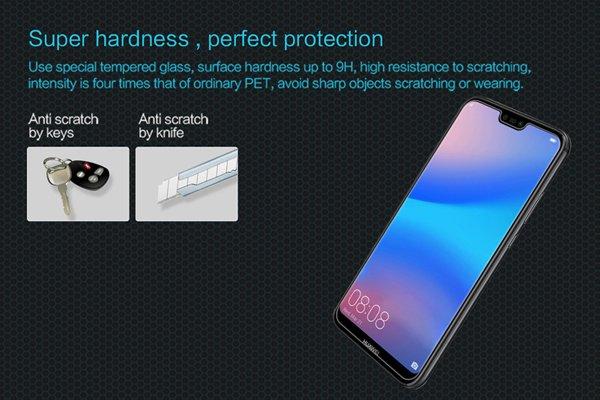 【ネコポス送料無料】Huawei P20 Lite 強化ガラスフィルム ナノコーティング 硬度9H [3]
