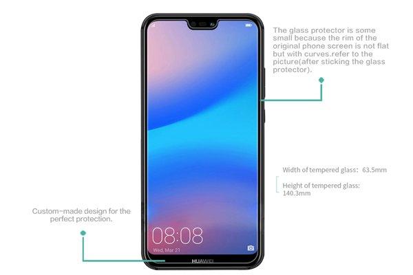 【ネコポス送料無料】Huawei P20 Lite 強化ガラスフィルム ナノコーティング 硬度9H [7]