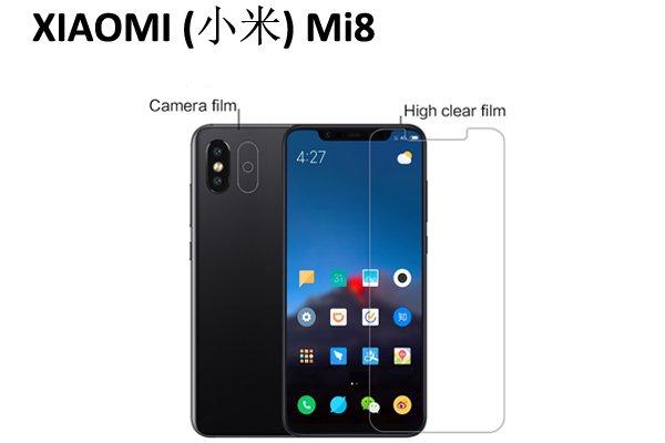 【ネコポス送料無料】Xiaomi(小米)Mi8 液晶保護フィルムセット クリスタルクリアタイプ [1]
