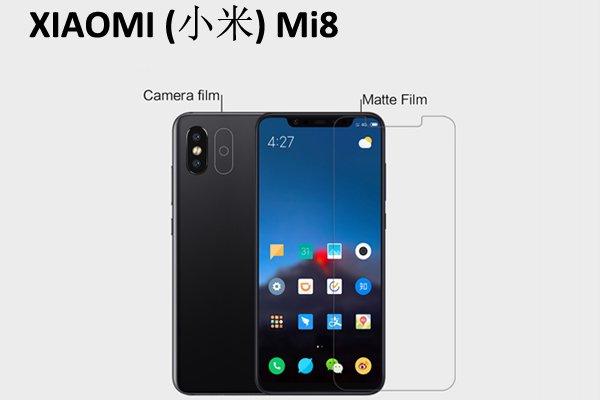 【ネコポス送料無料】Xiaomi(小米)Mi8 液晶保護フィルムセット アンチグレアタイプ  [1]
