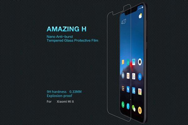 【ネコポス送料無料】Xiaomi(小米)Mi8 強化ガラスフィルム ナノコーティング 硬度9H  [1]