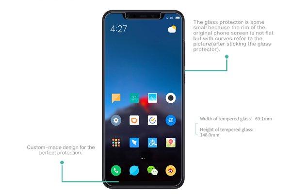 【ネコポス送料無料】Xiaomi(小米)Mi8 強化ガラスフィルム ナノコーティング 硬度9H  [7]