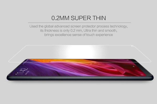 【ネコポス送料無料】Xiaomi(小米)Mi Mix2S 強化ガラスフィルム ナノコーティング 硬度9H  [1]