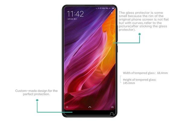 【ネコポス送料無料】Xiaomi(小米)Mi Mix2S 強化ガラスフィルム ナノコーティング 硬度9H  [7]