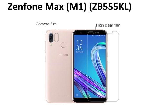 【ネコポス送料無料】Zenfone Max(M1)(ZB555KL)液晶保護フィルムセット クリスタルクリアタイプ [1]