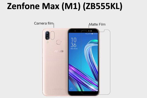 【ネコポス送料無料】Zenfone Max(M1)(ZB555KL) 液晶保護フィルムセット アンチグレアタイプ [1]