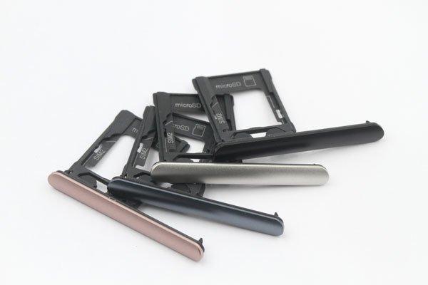 【ネコポス送料無料】Xperia XZ1 SIM & マイクロSDカードトレイASSY 全4色 [1]