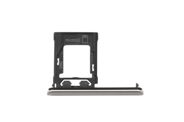 【ネコポス送料無料】Xperia XZ1 SIM & マイクロSDカードトレイASSY 全4色 [4]