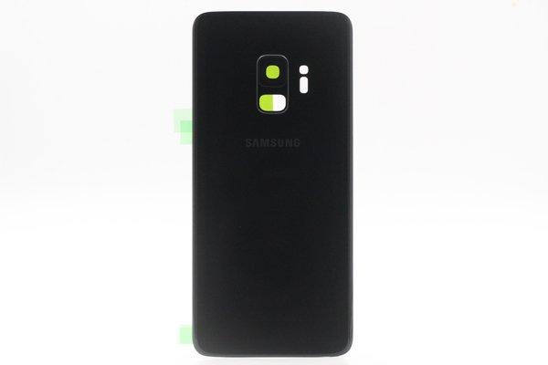 【ネコポス送料無料】Galaxy S9(SM-G9600)バックカバー ブラック [1]